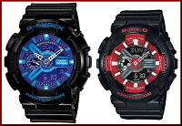 CASIO/G-SHOCK/Baby-G【カシオ/Gショック/ベビーG】ペアウォッチアナデジ腕時計ブラック(国内正規品)GA-110HC-1AJF/BA-110SN-1AJF