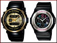 CASIO/G-SHOCK/Baby-G【カシオ/Gショック/ベビーG】ペアウォッチ 腕時計 ブラック G-300G-9AJF/BGA-101-1BJF(国内正規品)