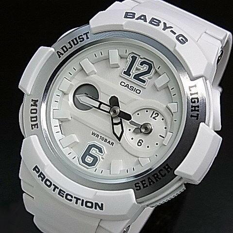 CASIO/Baby-G【カシオ/ベビーG】ビッグナンバーインデックス レディース腕時計 ホワイト/シルバー 海外モデル【並行輸入品】BGA-210-7B4