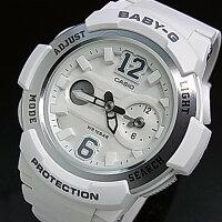 CASIO/Baby-G【カシオ/ベビーG】ビッグナンバーインデックスレディース腕時計ホワイト/シルバー(国内正規品)BGA-210-7B4JF