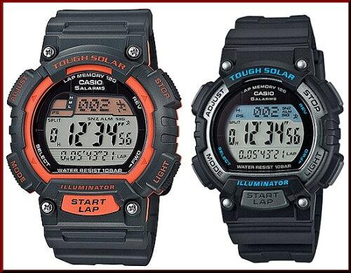 CASIO/SPORTS GEARペアウォッチ ソラー腕時計 ラバーベルト ダークグレー/...