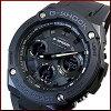 CASIO/G-SHOCK【カシオ/Gショック】G-STEEL/Gスチールソーラー電波腕時計メンズブラックケースブラック文字盤ブラックラバーベルト(海外モデル)GST-W100G-1B