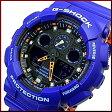 CASIO/G-SHOCK【カシオ/Gショック】アナデジモデル メンズ腕時計 ネイビー/オレンジ(海外モデル)GA-100L-2AJF