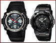 CASIO/G-SHOCK/Baby-G【カシオ/Gショック/ベビーG】ペアウォッチ ソーラー電波腕時計 ブラック AWG-M100-1AJF/BGA-1110-1BJF(国内正規品)