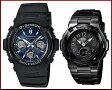 CASIO/G-SHOCK/Baby-G【カシオ/Gショック/ベビーG】ペアウォッチ ソーラー電波腕時計 ブラック AWG-M100SB-2AJF/BGA-1110-1BJF(国内正規品)