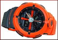 CASIO/G-SHOCK/Baby-G【カシオ/Gショック/ベビーG】ペアウォッチアナデジ腕時計オレンジ/グレーxオレンジ(国内正規品)GA-500P-4AJF/BGA-190-4BJF