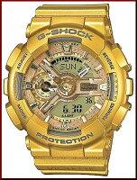 CASIO/G-SHOCK【カシオ/Gショック】VashtieKolaVioletteコラボモデルSSeries/エスシリーズ腕時計ゴールド海外モデルGMA-S110VK-9A