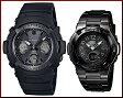 CASIO/G-SHOCK/Baby-G【カシオ/Gショック/ベビーG】ペアウォッチ ソーラー電波腕時計 ブラック AWG-M100SBB-1AJF/BGA-1110-1BJF(国内正規品)【02P03Dec16】