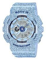 CASIO/Baby-G【カシオ/ベビーG】レディース腕時計DENIM'DCOLOR/デニム(海外モデル)BA-110DC-2A3