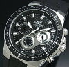 CASIO/EDIFICE【カシオ/エディフィス】クロノグラフメンズ腕時計ブラック文字盤ブラックラバーベルトEF-552-1AV海外モデル
