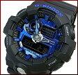 CASIO/G-SHOCK【カシオ/Gショック】Garish/ガリッシュカラー アナデジモデル メンズ腕時計 ブラック/ブルー(国内正規品)GA-710-1A2JF