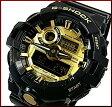 CASIO/G-SHOCK【カシオ/Gショック】Garish/ガリッシュカラー アナデジモデル メンズ腕時計 ブラック/ゴールド(国内正規品)GA-710GB-1AJF