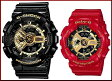 CASIO/G-SHOCK/Baby-G【カシオ/Gショック/ベビーG】ペアウォッチ アナデジ 腕時計 ブラック/レッドXゴールド(国内正規品)GA-110GB-1AJF/BA-110VLA-4AJR