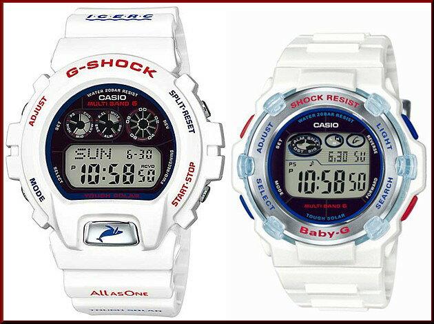 CASIO/G-SHOCK/Baby-G【カシオ/Gショック/ベビーG】イルカ・クジラモデル ソーラー電波腕時計 ペアウォッチ ホワイト(国内正規品)GW-6901K-7JR/BGR-3007K-7JR:BRIGHT