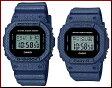 CASIO/G-SHOCK/Baby-G【カシオ/Gショック/ベビーG】ペアウォッチ 腕時計 DENIM'D COLOR/デニムドカラー(国内正規品)DW-5600DE-2JF/BGD-560DE-2JF