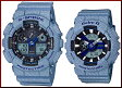 CASIO/G-SHOCK/Baby-G【カシオ/Gショック/ベビーG】ペアウォッチ 腕時計 DENIM'D COLOR/デニムドカラー(国内正規品)GA-100DE-2AJF/BA-110DE-2A2JF