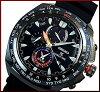 SEIKO/PROSPEX【セイコー/プロスペックス】メンズワールドタイムクロノグラフソーラー腕時計ブラックケースネイビー文字盤ブラックラバーベルト(海外モデル)SSC551P1