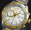 SEIKO/Chronograph【セイコー/クロノグラフ】メンズ腕時計コンビメタルベルトシルバー文字盤海外モデルSSB188P1