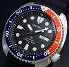 SEIKO/PROSPEX/200mdiver'swatch【セイコー/プロスペックス/200m防水ダイバーズ】自動巻ネイビー/レッドベゼルメンズ腕時計ラバーベルトブラック文字盤MADEINJAPN海外モデルSRP779J1