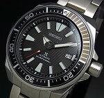 SEIKO/PROSPEX/200mdiver'swatch【セイコー/プロスペックス/200m防水ダイバーズ】サムライ自動巻メンズ腕時計メタルベルトブラック文字盤海外モデル【並行輸入品】SRPF03K1