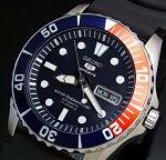 SEIKO/SEIKO5Sports【セイコー5スポーツ/ファイブスポーツ】自動巻メンズ腕時計ブラックラバーベルトネイビー文字盤MADEINJAPAN海外モデル【並行輸入品】SNZF15J2