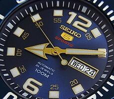 SEIKO/SEIKO5Sports【セイコー5スポーツ/ファイブスポーツ】自動巻メンズ腕時計メタルベルトネイビー文字盤海外モデル【並行輸入品】SRPB37K1