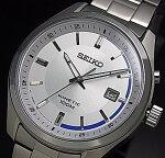 SEIKO/KINETIC【セイコー/キネテック】メンズ腕時計シルバー/ブルー文字盤メタルベルト海外モデルSKA717P1