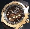 SEIKO/LORD【セイコー/ロード】クロノグラフメンズ腕時計ピンクゴールドケースブラウンレザーベルトブラウン/ピンクゴールド文字盤SPC114P1海外モデル【並行輸入品】