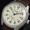 SEIKO/KINETIC【セイコー/キネテック】メンズ腕時計ブラウンレザーベルトアイボリー文字盤SKA723P1海外モデル【並行輸入品】