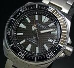 SEIKO/PROSPEX/200mdiver'swatch【セイコー/プロスペックス/200m防水ダイバーズ】サムライ自動巻メンズ腕時計メタルベルトブラック文字盤MADEINJAPAN海外モデル【並行輸入品】SRPB51J1