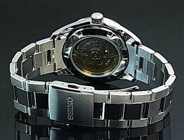 SEIKO/Presageメカニカル【セイコー/プレサージュ】スケルトン自動巻メンズ腕時計シルバー文字盤メタルベルトMadeinJapan海外モデル【並行輸入品】SSA355J1