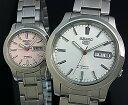 SEIKO/SEIKO5【セイコー5/セイコーファイブ】ペアウォッチ 自動巻腕時計 メタルベルト シルバー/ライトピンク 海外モデル【並行輸入品】SNK789K1/SYMD91K1・・・
