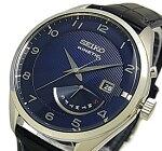 SEIKO/KINETIC【セイコー/キネテック】メンズ腕時計レトログラードネイビーレザーベルトネイビー文字盤海外モデル【並行輸入品】SRN061P1
