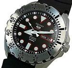 SEIKO/SEIKO5Sports【セイコー5スポーツ/ファイブスポーツ】自動巻メンズ腕時計ブラックラバーベルトブラック文字盤SRP601J1MADEINJAPAN海外モデル【並行輸入品】