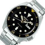SEIKO/SEIKO5Sports【セイコー5スポーツ/ファイブスポーツ】自動巻メンズ腕時計メタルベルトブラック文字盤海外モデル【並行輸入品】SRPD57K1