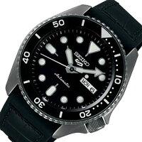 SEIKO/SEIKO5Sports【セイコー5スポーツ/ファイブスポーツ】自動巻メンズ腕時計ラバー(+レザー)ベルトブラック文字盤海外モデル【並行輸入品】SRPD65K3