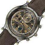 SEIKO/WORLDTIME【セイコー/ワールドタイム】メンズ腕時計アラームアンティークゴールドケースブラウンレザーベルト海外モデル【並行輸入品】SPL062P1