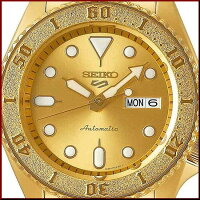 SEIKO/SEIKO5Sports【セイコー5スポーツ/ファイブスポーツ】自動巻メンズ腕時計ゴールドメタルべルトゴールド文字盤海外モデル【並行輸入品】SRPE74K1