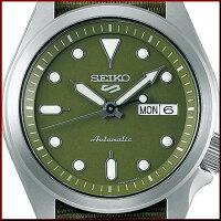 SEIKO/SEIKO5Sports【セイコー5スポーツ/ファイブスポーツ】自動巻メンズ腕時計グリーンナイロンべルトグリーン文字盤海外モデル【並行輸入品】SRPE65K1