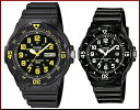 CASIO/Standard【カシオ/スタンダード】アナログクォーツ ペアウォッチ 腕時計 ラバーベルト ブラック 海外モデル【並行輸入品】MRW-200H-9B/LRW-200H-1B