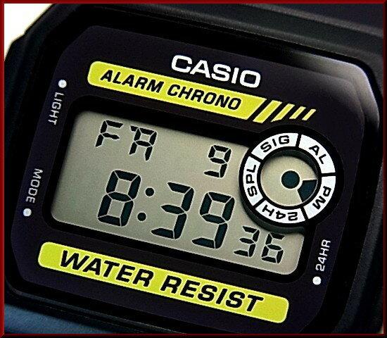 CASIO/Standard【カシオ/スタンダード】アラームクロノグラフ メンズ腕時計 ボーイズサイズ 軽量・薄型のデジタル液晶モデル ブラックラバーベルト(国内正規品)F-94WA-9JF