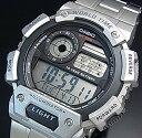 CASIO/Standard【カシオ/スタンダード】デジタル 世界地図表示ワールドタイム メンズ腕時計 メタルベルト 海外モデル【並行輸入品】AE-1400WHD-1AV