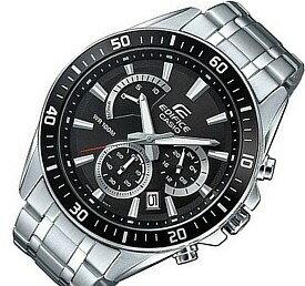 CASIO/EDIFICE【カシオ/エディフィス】クロノグラフ メンズ腕時計 ブラック文字盤 メタルベルト 海外モデル【並行輸入品】 EFR-552D-1A