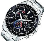 CASIO/EDIFICE【カシオ/エディフィス】クロノグラフメンズ腕時計ブラック/ブルー/レッド文字盤メタルベルト海外モデル【並行輸入品】EFR-552D-1A3