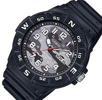 CASIO/Standard【カシオ/スタンダード】アナログクォーツメンズ腕時計ラバーベルトカモフラージュブラック文字盤海外モデル【並行輸入品】MRW-220HCM-1B