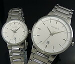 CITIZEN/Standard【シチズン/スタンダード】ペアウォッチ腕時計ホワイト文字盤メタルベルト海外モデル【並行輸入品】BI5010-59A/EU6010-53A