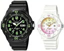 CASIO/Standard【カシオ/スタンダード】アナログクォーツ ペアウォッチ 腕時計 ラバーベルト ブラック/ホワイト 海外モデル【並行輸入品】MRW-200H-3B/LRW-200H-4E2 1
