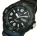 CASIO/Standard【カシオ/スタンダード】アナログクォーツ メンズ腕時計 ラバーベルト ブラック文字盤 海外モデル【並行輸入品】MRW-200H-1B2