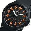 CASIO/Standard【カシオ/スタンダード】アナログクォーツ メンズ腕時計 ラバーベルト ブラック/オレンジ 海外モデル【並行輸入品】MW-240-4B