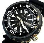 SEIKO/PROSPEX/200mdiver'swatch【セイコー/プロスペックス/200m防水ダイバーズ】自動巻ブラック/ゴールドケースメンズ腕時計ブラックラバーベルトブラック文字盤海外モデル【並行輸入品】SRPA82K1